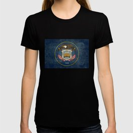 Utah State Flag, grungy style T-shirt