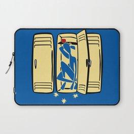 Blue (is shoved in a locker) Laptop Sleeve