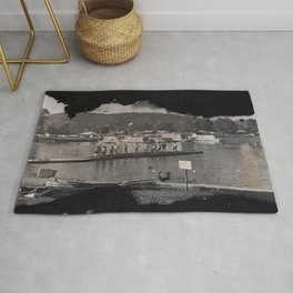 Launching the Boats Rug