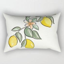 Lemon Branch Rectangular Pillow