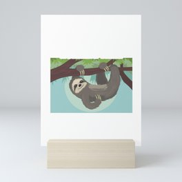 Sloth Running Team Get There When We Get There Mini Art Print