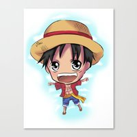 luffy Canvas Prints featuring Luffy by Midnight Tardis