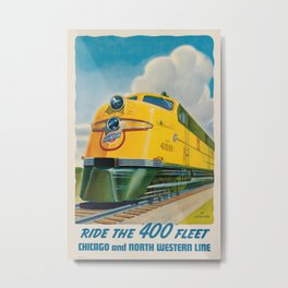 Ride the 400 Fleet Vintage Travel Poster Metal Print