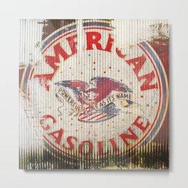 American Gasoline - Vintage Label Metal Print