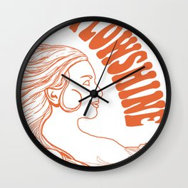 Flowshine: The Mountain Queen Wall Clock