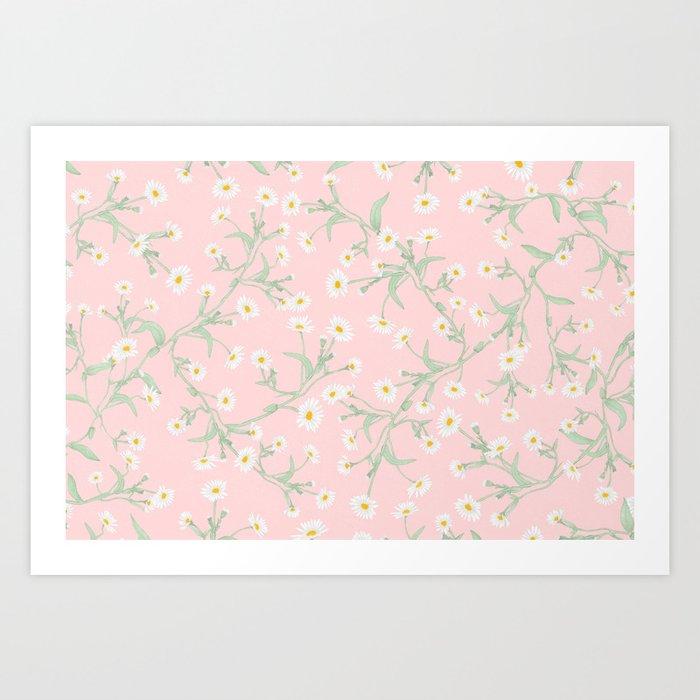 Oxeye (Pink) Art Print