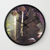 deco Wall Clocks featuring Deco by Kristin Kaiser