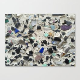 pebbles in concrete Canvas Print
