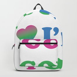 Good Golly I'm Poly | Polysexual Pride Backpack