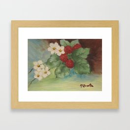 Still Life Berries with flowers Framed Art Print