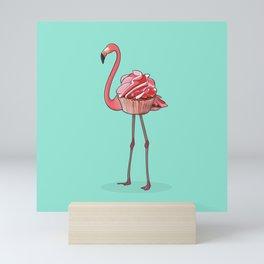 Flamingo Cupcake Mini Art Print