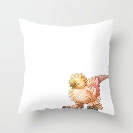 Silkie Raptor Throw Pillow