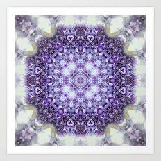 blue Hyacinthus N°2  ( pillow) Art Print