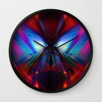 rush Wall Clocks featuring Rush by Robin Curtiss