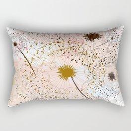 Dandelion field. Beautiful and soft vector watercolor Rectangular Pillow