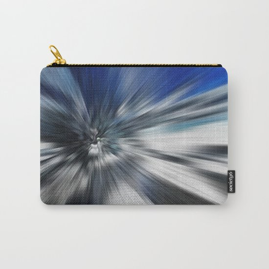Abstract Black And Blue Starburst Carry-All Pouch