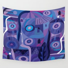 Blue Pozole Wall Tapestry