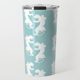 White Panther Travel Mug