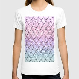 Mermaid Scales on Unicorn Girls Glitter #1 #shiny #pastel #decor #art #society6 T-shirt
