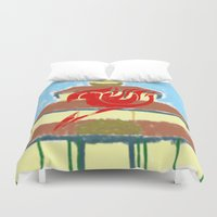 fairy tail Duvet Covers featuring Fairy Tail Segmented by JoshBeck