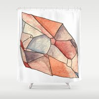 crystal Shower Curtains featuring Crystal  by Matt Smith