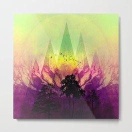 TREES under MAGIC MOUNTAINS V Metal Print