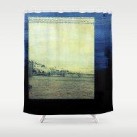 bridge Shower Curtains featuring Bridge by Neelie
