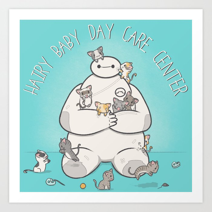 Hairy Baby Day Care Center Art Print