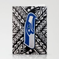 seahawks Stationery Cards featuring Seahawks poly style by Lonica Photography & Poly Designs