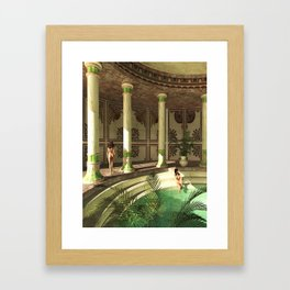 Greek bath beauties Framed Art Print