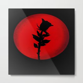 THE RED PROJECT - Bloody Moon . Metal Print