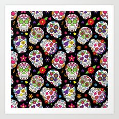 Colorful Sugar Skulls Art Print