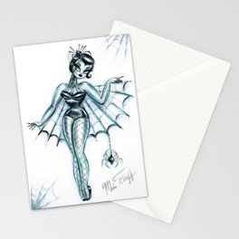 Black Widow Burlesque Doll Stationery Cards