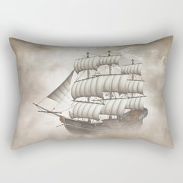 Cloud Ship Rectangular Pillow