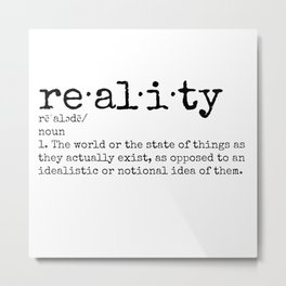 Reality defined bow Metal Print