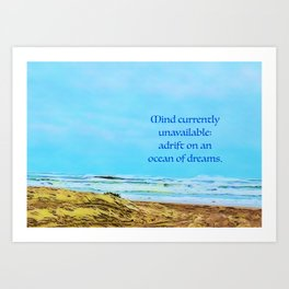 Unavailable Art Print