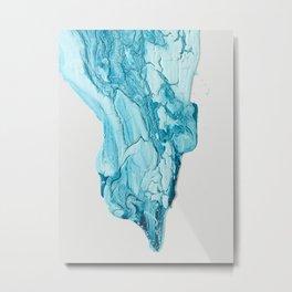 Let the blue ocean arrive Metal Print