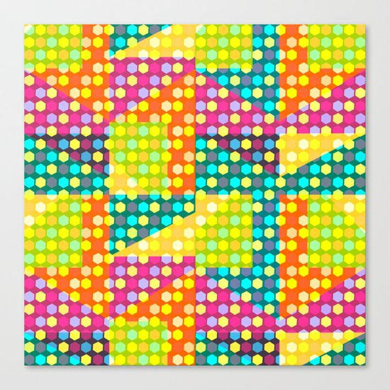 Colorful hexagons Canvas Print
