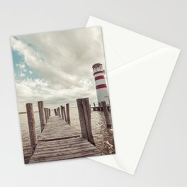 Pier with a Lighthouse Vintage Edit Stationery Cards