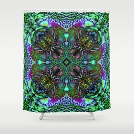 Orchid Psychedelic Mandalaesquad Shower Curtain