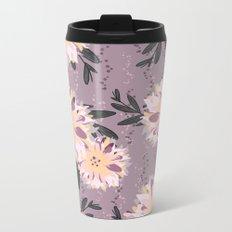 Fancy Floral Metal Travel Mug