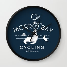 Morro Bay Cycling Wall Clock