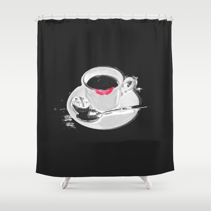 Coffee And Lipstick Shower Curtain