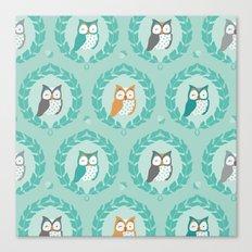 Sweet Owlies - Dusk Canvas Print