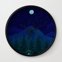 Camping Wall Clock