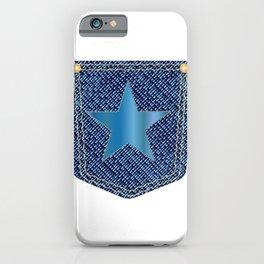 Star Denim Pocket iPhone Case