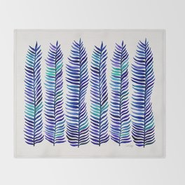 Indigo Seaweed Throw Blanket