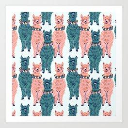 Hey Llama Llama Art Print