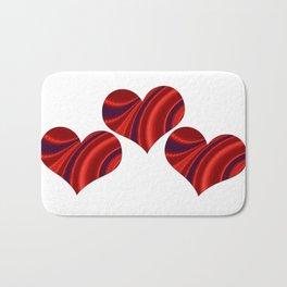 Fractal Heart Trio Bath Mat