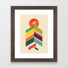 Lingering Mountains Framed Art Print